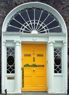 Door of a Georgian house, Dublin by bunnyshe Cool Doors, Unique Doors, Georgian Doors, Georgian House, Interior Desing, Interior Exterior, Entrance Doors, Doorway, Front Doors