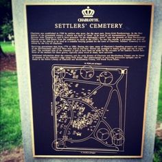 Charlotte Settlers' Cemetery map // Uptown Charlotte, NC // {the five senses} in the Queen City #5senses #sight