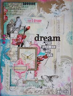 beautifully collage journal page by Emma Trout: Everyday Poetry Wish it. Dream it. Do it.