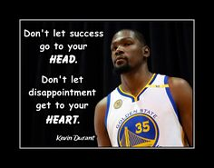 """Inspirational Basketball Quote Poster, Photo Wall Decor, Gift, Head & Heart Wall Art, Bedroom, Bathroom, Pride, Kevint Durant 8x10"""", 11x14"""" by ArleyArt on Etsy"""
