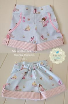 Artículos similares a Belle and Boo Tea Party High Waisted Shorts en Etsy Baby Dress Patterns, Sewing Patterns For Kids, Sewing For Kids, Baby Sewing, Baby Girl Fashion, Kids Fashion, Short Niña, Belle And Boo, Kids Frocks Design