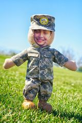 SOMETHING TO HUG (US Deployment Dolls): We hope our dolls will help ease the anxiety your children are faced with when mommy or daddy are temporarily away or deployed overseas.        Each one of our dolls is carefully customized with their loved one's face, Official matching combat duty outfit, custom embroidery, and a optional 20 second heart voice recorder.  Our dolls are keepsakes for a life time, made to bring our little ones strength, courage and comfort. www.operationwearehere.com