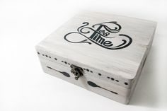 TEA BOX  Box for tea bags  hand decorated wood 9 by DreamsBox, €50.00