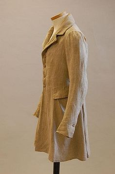 A gentleman's country coat, circa 1800, of beige - by Kerry Taylor Auctions