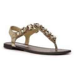 Steve Madden Gram Flat Sandal (£49) ❤ liked on Polyvore featuring shoes, sandals, steve madden sandals, steve-madden shoes, steve madden footwear, flat shoes and steve madden