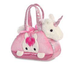 Pink Unicorn Fancy Pal Bag Soft Toy