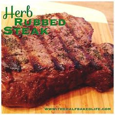 #steak! #grilled #bbq #4thofJuly  Herb Rubbed Steak