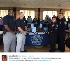 Austin Police at our NCOA Career Expo in Fort Hamilton, NY!