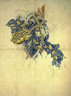 Art Nouveau. William Morris (The way he creates his pattern is by hand when he draws it first and then adds colour to it.)