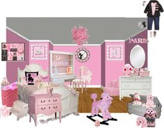 """""""pink paris poodle"""" by sterlingkitten on Polyvore"""