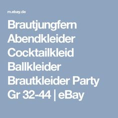 Brautjungfern Abendkleider Cocktailkleid Ballkleider Brautkleider Party Gr 32-44 | eBay