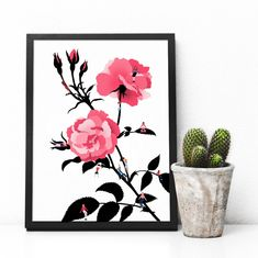 Bloom Art Print/ Illustrated Wall Art / Postcard / A3 A4 A5   Etsy Vibrant Colors, Colours, Space Girl, Handmade Art, A5, Frames, Spirituality, Bloom, Art Prints