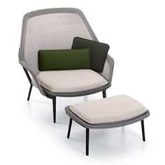 Ronan & Erwan Bourellec Slow Chair and Ottoman