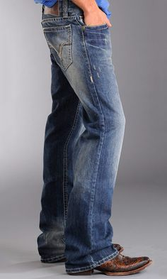 Rock & Roll Cowboy Men's Relaxed Fit Double Barrel. Love the boot too!