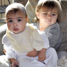 Cute cousins! North West and Penelope Disick in a photo Kim K posted on Instagram