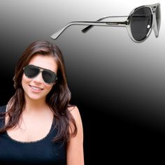 These plastic frame aviator sunglasses are an eye-catching handout that will help your promotional campaign take flight! Featuring smoky plastic lenses and silver arms, these trendy shades are great giveaways for beach resorts, outdoor events and summertime shindigs, bound to catch your customers' eyes. Please order in increments of 1 dozen. They are one-size-fits-most and can be customized with an imprint of your company name and logo for increased brand exposure.