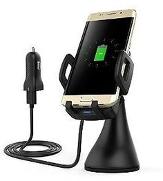 Dodocool Qi Wireless Car Mount Fast Charger Air Vent Car Holder 360° Degree Rotating for Samsung Galaxy S7 / S7 Edge / Note5 / S6 Edge Plus and Qi-enabled Devices: Cell Phones & Accessories