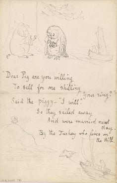 Beatrix Potter handwritten letter.