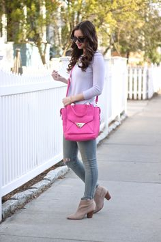 Lavender, Hot Pink & Taupe Booties