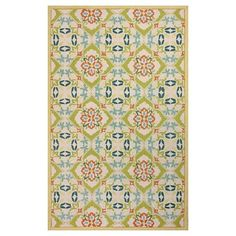 nuLOOM 100% Wool Hand Hooked Adeline Rug - Green (there is also a blue version)