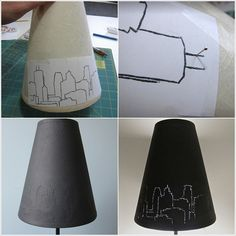 DIY City Lights Lampshade