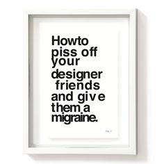 Designer Migraines  #print – This time you can order this special #gift.