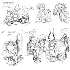 HOW TO TRAIN YOUR DRAGON comics part 1 by faragonart.... Oh Gobber....