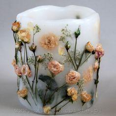 świeca z suszonymi kwiatami / botanical candle