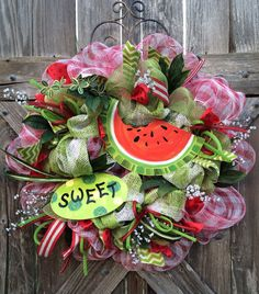 Summer Wreath Summer Door Hanging Summer by BaBamWreaths on Etsy, $82.00