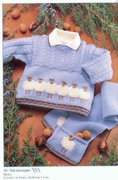 Olá!!!  Nem precisa falar que roupas de criança são lindinhas...  Selecionei algumas peças com  tricô  e crochê em tons de azul...  Amo, amo...
