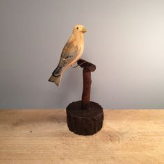 Vintage Wooden White Bird Figurine  £14.00 Vintage carved and painted wooden bird perched on wooden stand. Lovely addition in the garden or on a window sill!  Dimensions:  Height 22cm, Width 11cm,