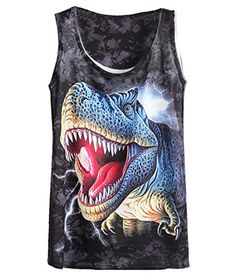 Sheinside® Women's Black Sleeveless Dinosaur Print T-shirt (One Size, Black) Sheinside http://www.amazon.com/dp/B00MHD68LS/ref=cm_sw_r_pi_dp_7wa1ub0YWH1H0
