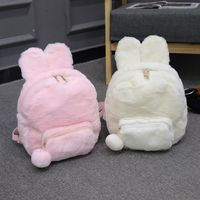 Pink/White Bunny Plush Backpack - Code Andester for off 🥰 Source by andester_kawalii Cute Mini Backpacks, Stylish Backpacks, Leather Backpacks, Leather Bags, Kawaii Bags, Kawaii Clothes, Fluffy Bunny, Bunny Plush, Mini Mochila