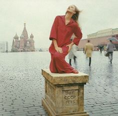 Norman Parkinson Jerry Hall Russian 1970's