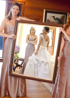 I like the idea of this shot, but my bridesmaids would need to look more enthused!