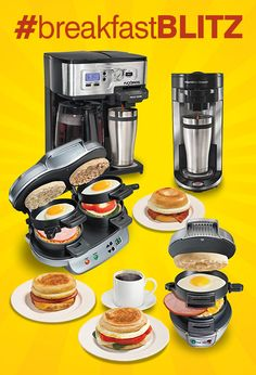 It's time for a few weeks of surprise #BreakfastBlitz giveaways! Follow @hamiltonbeach on Twitter, Facebook and everydaygoodthinking.com for your chance to win Breakfast Sandwich Makers and FlexBrew Coffeemakers.