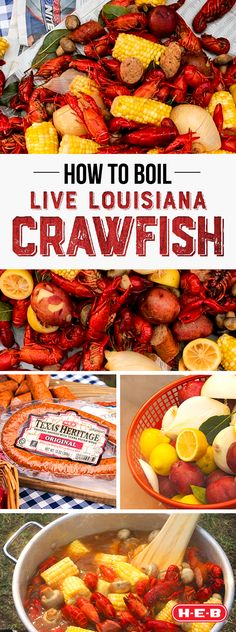 It's crawfish season in Texas and H-E-B has everything you need to throw the best boil on the block! Fish Recipes, Seafood Recipes, Mexican Food Recipes, Recipies, Cajun Cooking, Cooking Recipes, Healthy Recipes, Cajun Food, I Love Food
