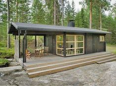 Small container home.  Photo only.