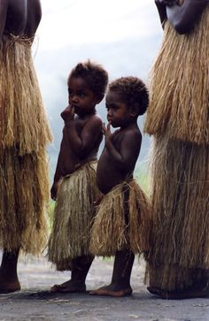 Traditional grass skirts