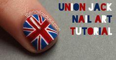 Union Jack British Flag Nail Art Tutorial