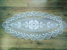 Table runner,set of doilies,table cover Crochet Table Runner, Crochet Tablecloth, Crochet Doilies, Knit Crochet, Crochet Square Patterns, Doily Patterns, Fillet Crochet, Crochet Decoration, Diy And Crafts