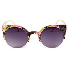 Floral Printed Retro Sunglasses