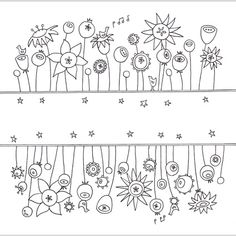 garden by caroline rose art...love the image right side up and upside down!