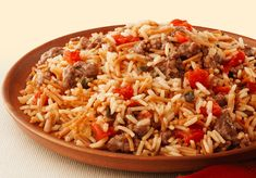 Zesty Spanish Beef and Rice rice a roni beef recipe Ricearoni Recipes, Sushi Rice Recipes, Rice Recipes For Dinner, Spicy Recipes, Side Dish Recipes, Bulgogi, Fiesta Rice Recipe, Rice A Roni Spanish Rice Recipe, Vegan Pizza Recipe