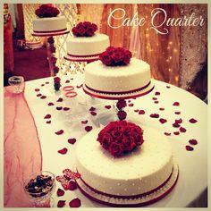 Simple and Elegant Wedding Cakes designed by Cake Quarter  01215071645 www.cakequarter.co.uk
