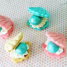 Sea Shell Macarons by Le Pop Shop using Macaron Mix http://www.amazon.com/dp/B00T5D8EMY