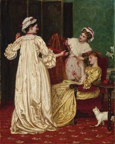 "Valentine Cameron Prinsep, R.A. (1838-1904) - by Christie's: ""The Gossips."""