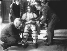 Government-authorized execution by electric chair, early 1900s.