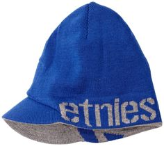 74f4e1ad Etnies Breadwinner-Mns Visor Beanie Men's Hat Blue/Grey One Size: Amazon.