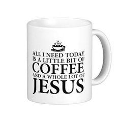Coffee Jesus Mug by TalkieAboutCoffee on Etsy